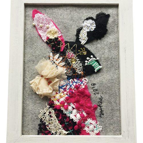 Collage Art workshop 'Animal Lace Deco' コラージュWS・アニマルレースデコ