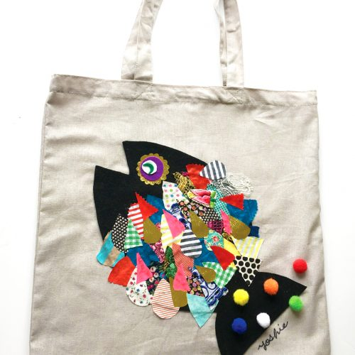 Collage Art Workshop 'Fish Eco Bag' コラージュWS・おさかなエコバッグ