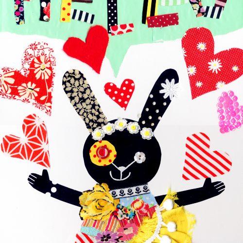 Collage Art Workshop 'Dress up Animal' コラージュWS・おめかしアニマル