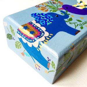Hand painted treasure box・Made to order・手描きのたからばこ【オーダーメイドでつくります】